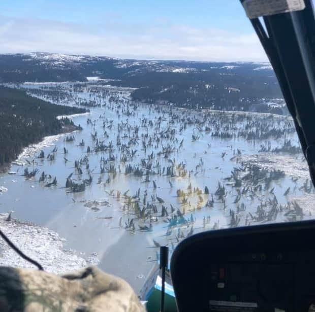 Large amounts of debris ended up in the Great Whale River, causing flooding concerns among local officials.