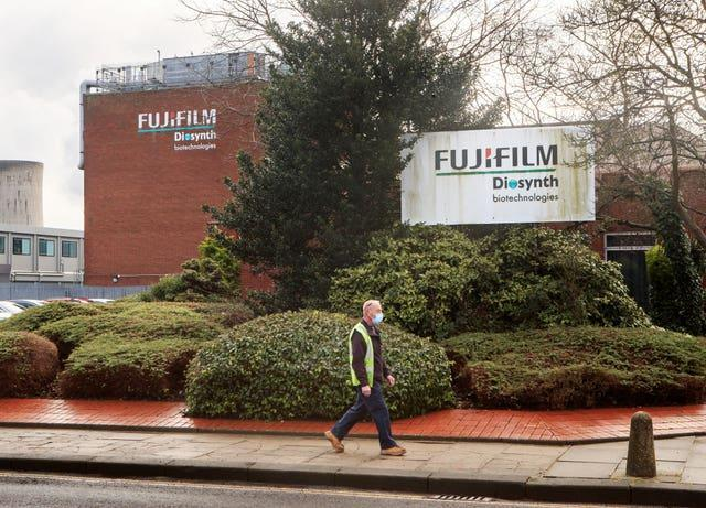 The Fujifilm Diosynth facility in Billingham, Stockton-on-Tees, which will be used as a manufacturing facility for the Novavax Covid-19 vaccination