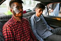 Naqdi and Daryabi say they were beaten and detained for hours by Taliban fighters for covering a women's protest in Kabul (AFP/Wakil KOHSAR)