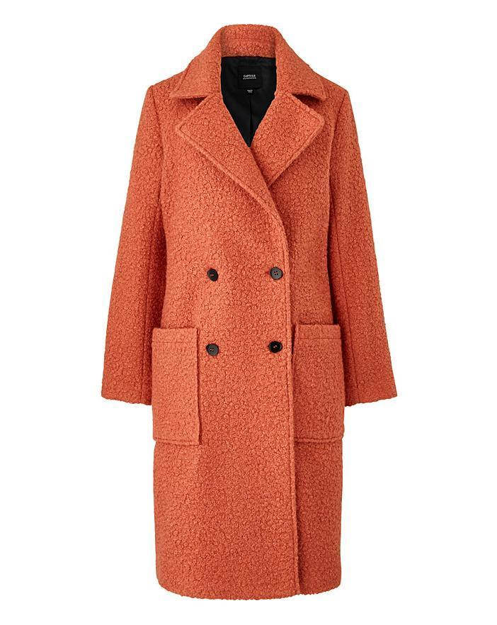 """<br><br><strong>Simply Be</strong> Rust Double Breasted Longline Teddy Wool Look Coat, $, available at <a href=""""https://www.simplybe.co.uk/shop/rust-double-breasted-longline-teddy-wool-look-coat/dy125/product/details/show.action?pdBoUid=3014"""" rel=""""nofollow noopener"""" target=""""_blank"""" data-ylk=""""slk:Simply Be"""" class=""""link rapid-noclick-resp"""">Simply Be</a>"""