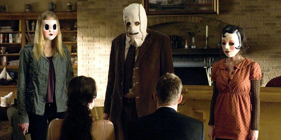 """<p>Don't worry if you feel an overwhelming urge to hit pause repeatedly to remind yourself, """"It's only a movie."""" Liv Tyler and Scott Speedman star in this home-invasion thriller as a couple going through a REALLY rough patch: they break up, then are tormented by masked killers. <a class=""""link rapid-noclick-resp"""" href=""""https://www.amazon.com/dp/B001IX03BE?tag=syn-yahoo-20&ascsubtag=%5Bartid%7C10056.g.10247453%5Bsrc%7Cyahoo-us"""" rel=""""nofollow noopener"""" target=""""_blank"""" data-ylk=""""slk:Watch Now"""">Watch Now</a><br></p>"""