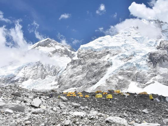 Everest base camp: 11 climbers have died in recent weeks trying to reach the summit (James Draven)