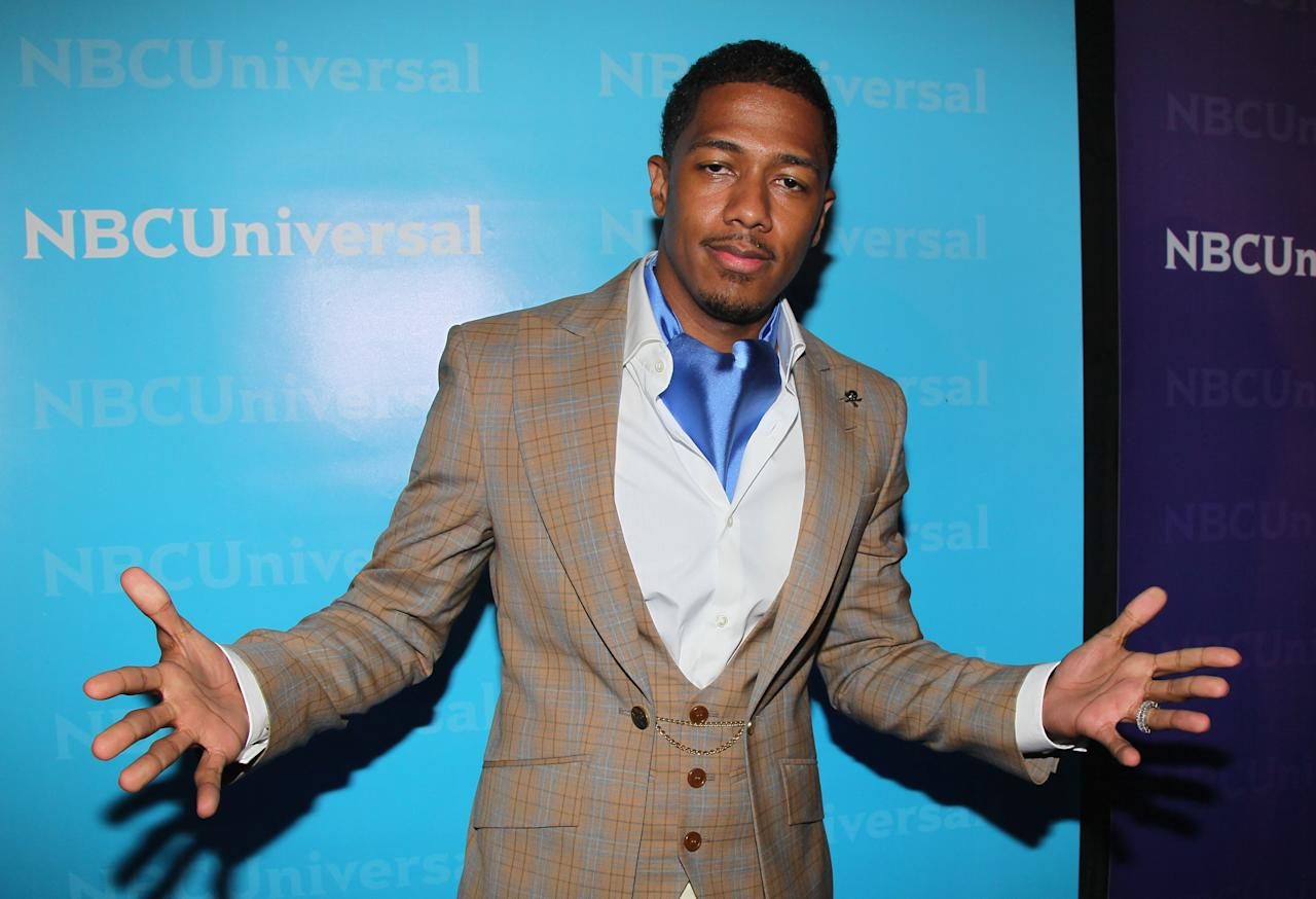PASADENA, CA - APRIL 18: TV Personality Nick Cannon attends the NBCUniversal summer press day held at The Langham Huntington Hotel and Spa on April 18, 2012 in Pasadena, California.  (Photo by David Livingston/Getty Images for NBCUniversal)