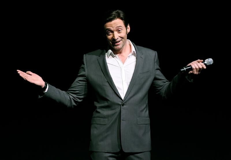 """Hugh Jackman, star of the upcoming film """"The Greatest Showman,"""" discusses the film during the 20th Century Fox presentation at CinemaCon 2017 at Caesars Palace on Thursday, March 30, 2017, in Las Vegas. (Photo by Chris Pizzello/Invision/AP)"""