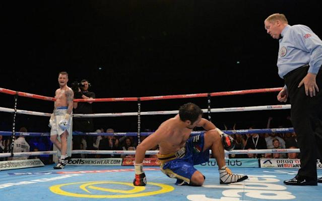 <span>Burns claimed the WBA crown by stopping Italian fighter Michele Di Rocco in the eighth round </span> <span>Credit: Getty </span>