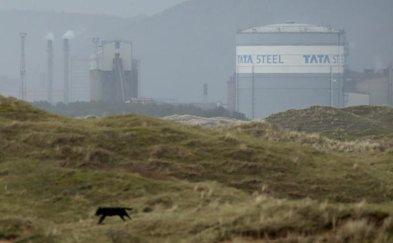 FILE PHOTO: Tata Steel steelworks are seen on the South Wales coastline, Port Talbot