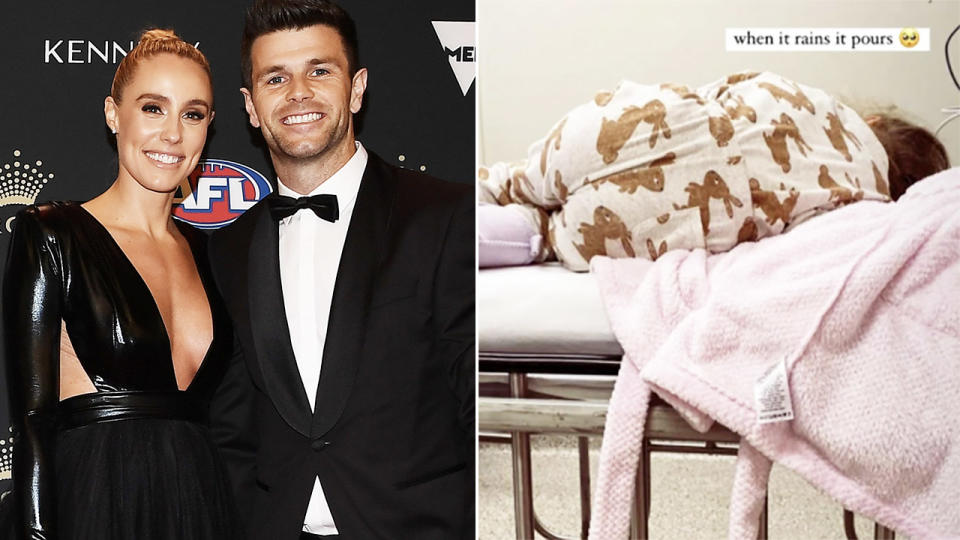 Brooke and Trent Cotchin, pictured here at the Brownlow Medal.