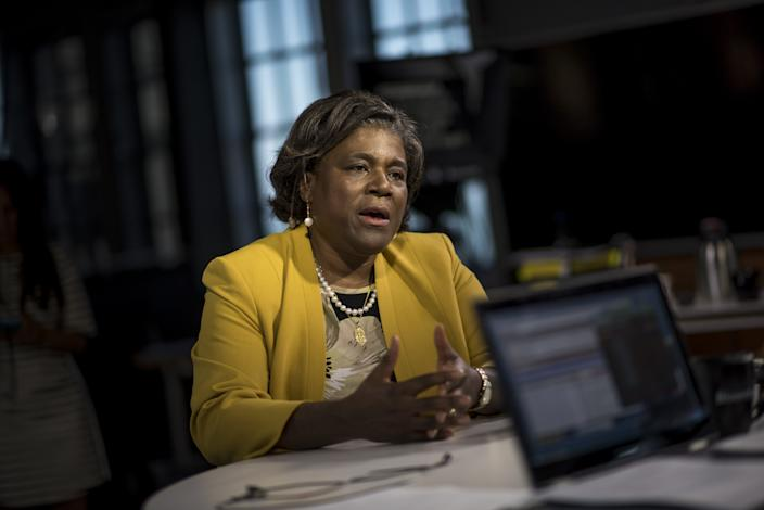 Linda Thomas-Greenfield, assistant secretary of state for African Affairs, speaks in San Francisco, California, U.S., on Tuesday, May 31, 2016. (David Paul Morris/Bloomberg via Getty Images)