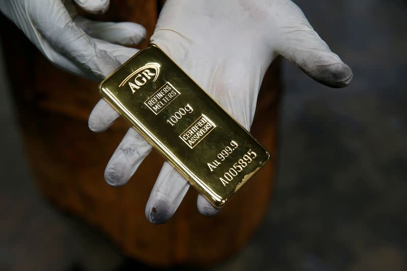 Gold poised for fifth weekly gain as virus cases surge