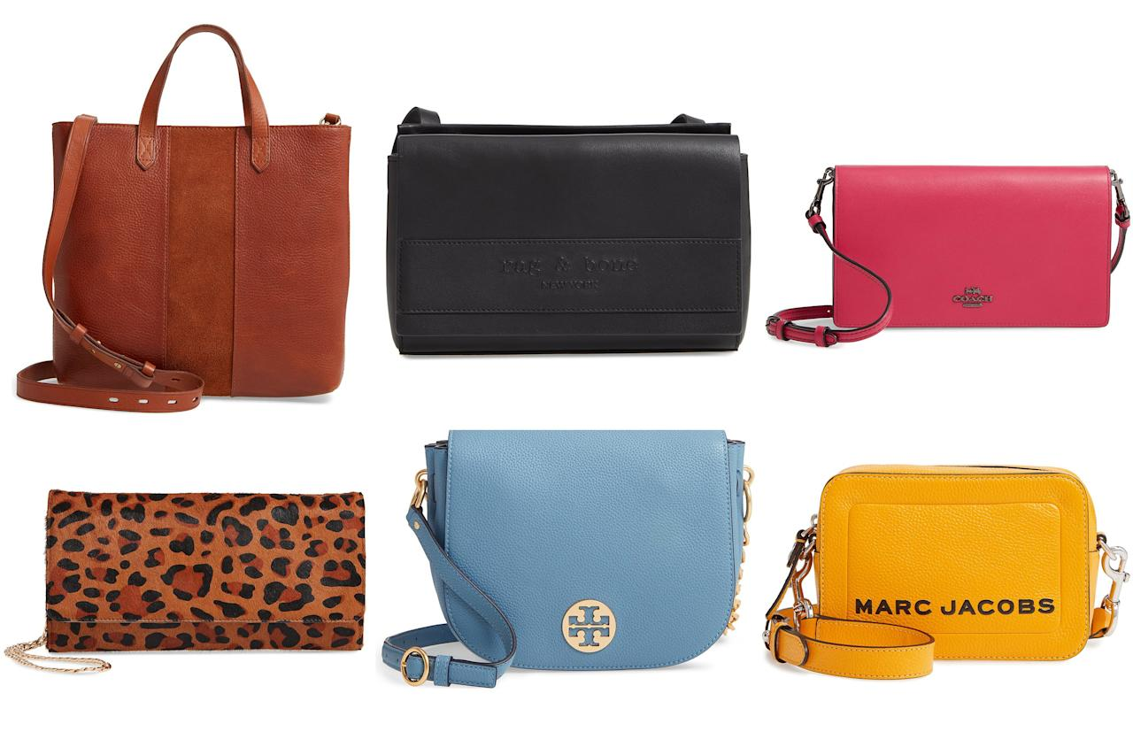 """<a href=""""https://people.com/style/nordstrom-anniversary-sale/"""" target=""""_blank"""">Nordstrom's Anniversary Sale</a> is in full gear, and with hundreds of major markdowns available, including <a href=""""https://click.linksynergy.com/deeplink?id=93xLBvPhAeE&mid=1237&murl=https%3A%2F%2Fshop.nordstrom.com%2Fc%2Fsale-womens-wallets&u1=PEO%2CShopping%3ANordstromHasTonsofGorgeousHandbagsOnSaleIncludingKateSpade%2CToryBurch%2CCoach%2CandMore%21%2Ckamscram%2CUnc%2CGal%2C6182461%2C201907%2CI"""" target=""""_blank"""" rel=""""nofollow"""">some of the coolest handbags</a> that will take you through summer and beyond, we're not wasting any time filling our shopping carts. We're talking a trendy <a href=""""https://click.linksynergy.com/deeplink?id=93xLBvPhAeE&mid=1237&murl=https%3A%2F%2Fshop.nordstrom.com%2Fs%2Fnordstrom-selena-genuine-calf-hair-clutch%2F5207841&u1=PEO%2CShopping%3ANordstromHasTonsofGorgeousHandbagsOnSaleIncludingKateSpade%2CToryBurch%2CCoach%2CandMore%21%2Ckamscram%2CUnc%2CGal%2C6182461%2C201907%2CI"""" target=""""_blank"""" rel=""""nofollow"""">leopard print clutches</a>, <a href=""""https://click.linksynergy.com/deeplink?id=93xLBvPhAeE&mid=1237&murl=https%3A%2F%2Fshop.nordstrom.com%2Fs%2Fcoach-calfskin-leather-foldover-convertible-clutch%2F4723664&u1=PEO%2CShopping%3ANordstromHasTonsofGorgeousHandbagsOnSaleIncludingKateSpade%2CToryBurch%2CCoach%2CandMore%21%2Ckamscram%2CUnc%2CGal%2C6182461%2C201907%2CI"""" target=""""_blank"""" rel=""""nofollow"""">candy-colored crossbody bags</a>, and <a href=""""https://click.linksynergy.com/deeplink?id=93xLBvPhAeE&mid=1237&murl=https%3A%2F%2Fshop.nordstrom.com%2Fs%2Ftory-burch-everly-leather-tote%2F5269563&u1=PEO%2CShopping%3ANordstromHasTonsofGorgeousHandbagsOnSaleIncludingKateSpade%2CToryBurch%2CCoach%2CandMore%21%2Ckamscram%2CUnc%2CGal%2C6182461%2C201907%2CI"""" target=""""_blank"""" rel=""""nofollow"""">chic tote bags</a> — all on major markdown. Styles are already selling out, so you'll want to shop them while you still can. Scroll through to shop 12 of our favorite discounted styles before """