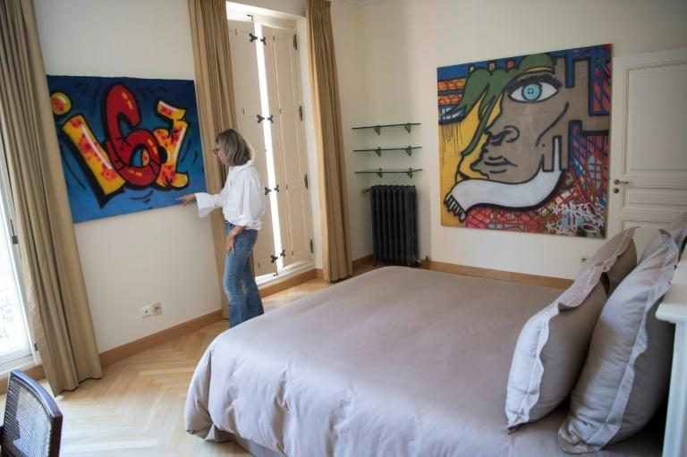 Caroline Pozzo di Borgo has succeeded in hanging street art in a sixteenth century French chateau