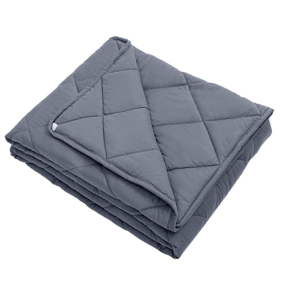 "<p>Meet your best basic blanket. The <a href=""https://www.popsugar.com/buy/InDaily%20Cool%20Weight%20Blanket-375588?p_name=InDaily%20Cool%20Weight%20Blanket&retailer=amazon.com&price=49&evar1=fit%3Aus&evar9=45410504&evar98=https%3A%2F%2Fwww.popsugar.com%2Ffitness%2Fphoto-gallery%2F45410504%2Fimage%2F45411968%2FInDaily-Cool-Weighted-Blanket&list1=stress%2Csleep%2Cmental%20health%2Canxiety%2Chealthy%20living&prop13=mobile&pdata=1"" rel=""nofollow noopener"" target=""_blank"" data-ylk=""slk:InDaily Cool Weight Blanket"" class=""link rapid-noclick-resp"">InDaily Cool Weight Blanket</a> ($49-$109) is breathable, comfortable, and transportable.</p>"