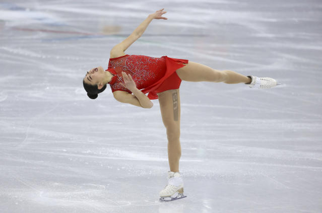 American figure skater Mirai Nagasu landed a historic triple axel on Monday at the 2018 PyeongChang Winter Olympics. (Getty)