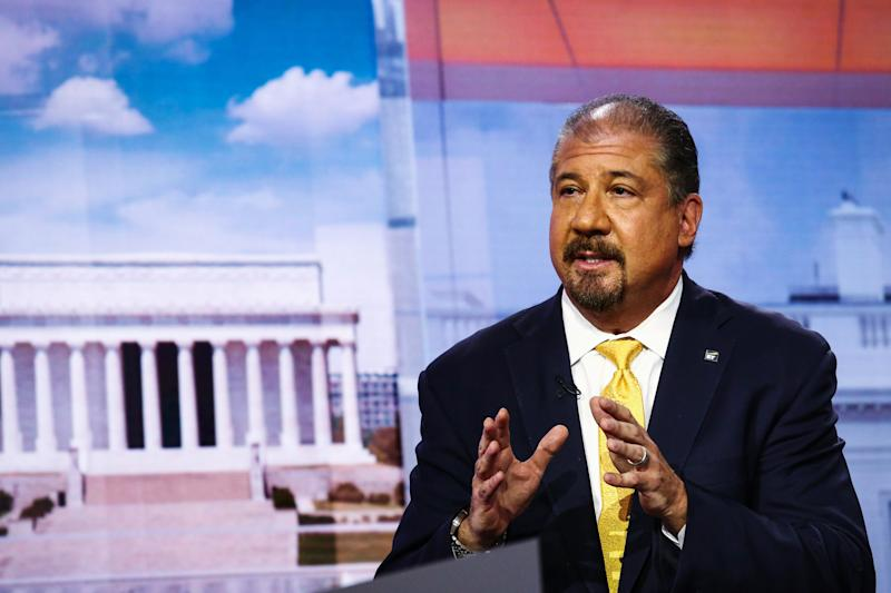 Ernst & Young CEO Mark Weinberger has spoken publicly about his commitment to gender equality but has not said anything about Ward's case or responded to her request to make her lawsuit public. (Bloomberg via Getty Images)
