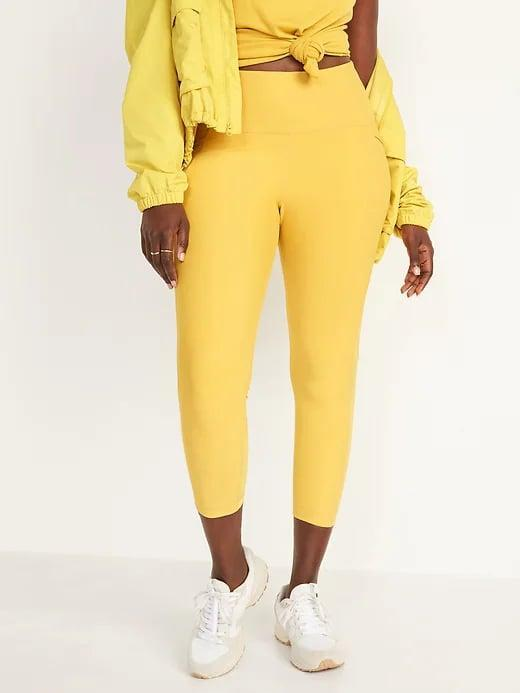 <p>The <span>Old Navy High-Waisted PowerSoft Run Crop Leggings in Meadow Gold</span> ($40) bring the sunshine wherever you go, no matter the weather.</p>