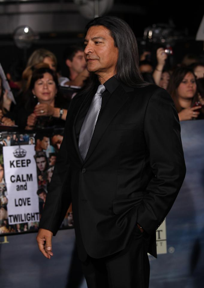 "Gil Birmingham arrives at ""The Twilight Saga: Breaking Dawn - Part 2"" Los Angeles premiere at the Nokia Theatre L.A. Live on November 12, 2012 in Los Angeles, California."