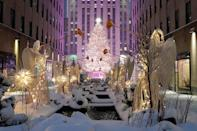 """<p>New York City's Rockefeller Center stands quietly blanketed in snow after a storm overnight on Dec. 17 dumped 10 inches of the white stuff on the city. Much of Pennsylvania, New Jersey, New York and New England were hit Wednesday, getting anywhere from 6 to 12 inches, and tragically leading to at <a href=""""https://people.com/human-interest/winter-storm-2020-4-deaths-pileups-northeast/"""" rel=""""nofollow noopener"""" target=""""_blank"""" data-ylk=""""slk:least four traffic-related deaths."""" class=""""link rapid-noclick-resp"""">least four traffic-related deaths. </a></p>"""