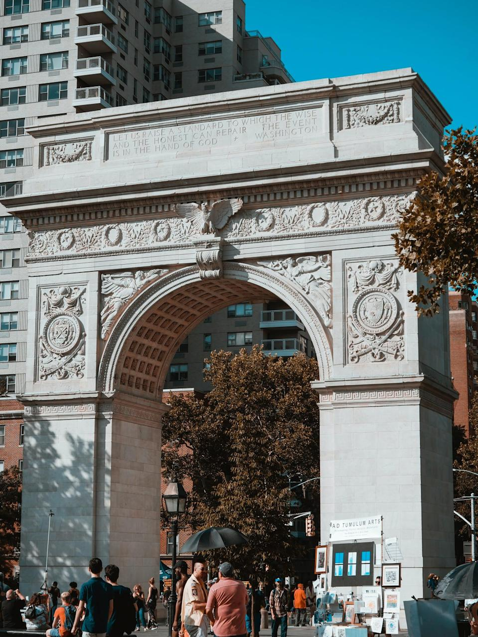 <p>It's at Washington Square where Lara Jean really begins to fall in love with the city. When they spot Gen, Chris points out to her BFF that the park is actually a part of the NYU campus, which spikes her interest in the college despite her plan to head off to California. </p>