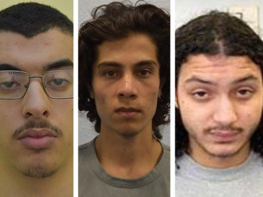 <p>Hashem Abedi, Ahmed Hassan and Muhammed Saeed</p> (Met Police)