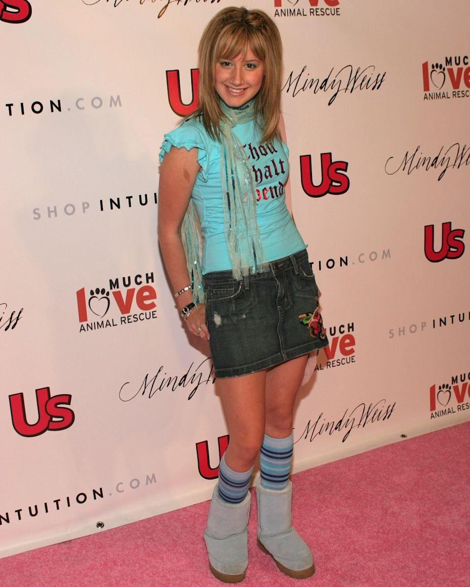 <p>Simultaneously ubiquitous and polarizing, Uggs were unavoidable even on the red carpet, where Ashley Tisdale wore her pair to an <em>US Weekly</em> event.</p>