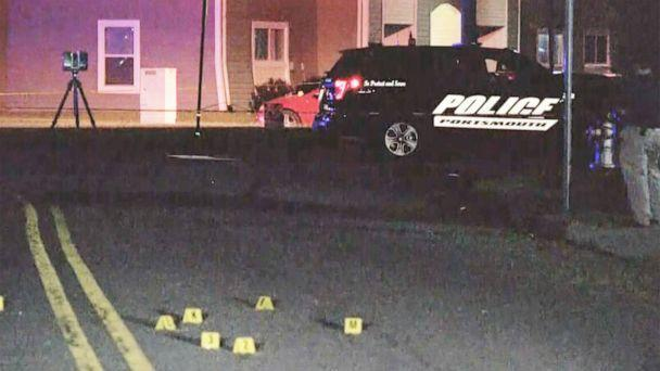 PHOTO: Bullet casing markers litter the scene of a fatal shooting of a 15 year old on the 200 block of Chowan Drive in Portsmouth, Va., Aug. 2, 2021. (WVEC)