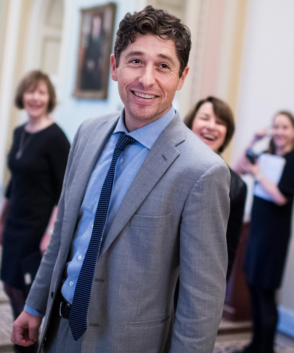 """<strong><h3><h2>Jacob Frey</h2></h3></strong><br>Jacob Frey has been the mayor of Minneapolis since 2017, having defeated the incumbent Mayor Betsy Hodges. Before then, he was an incredibly active member of the Minneapolis City Council in Minnesota, representing Ward 3. Before becoming mayor, Frey worked as an employment and civil rights attorney, and was heavily involved with community organizing, including being the organizer of the inaugural <a href=""""http://www.minneapolismn.gov/mayor/WCMSP-217963"""" rel=""""nofollow noopener"""" target=""""_blank"""" data-ylk=""""slk:Big Gay Race"""" class=""""link rapid-noclick-resp"""">Big Gay Race</a>. <br> <br>On top of being an avid organizer, he's also Minneapolis's second Jewish mayor, and its second-youngest after Al Hofstede. Since his start as mayor, he's worked on the Minneapolis Police Department's body camera policy, <a href=""""https://www.mprnews.org/story/2018/04/04/minneapolis-to-announce-changes-to-body-camera-rules"""" rel=""""nofollow noopener"""" target=""""_blank"""" data-ylk=""""slk:requiring officers to wear body cameras"""" class=""""link rapid-noclick-resp"""">requiring officers to wear body cameras</a> to be held accountable. Frey has also focused heavily on allocating more money to affordable housing. <span class=""""copyright"""">Photo: Tom Williams/CQ Roll Call.</span>"""