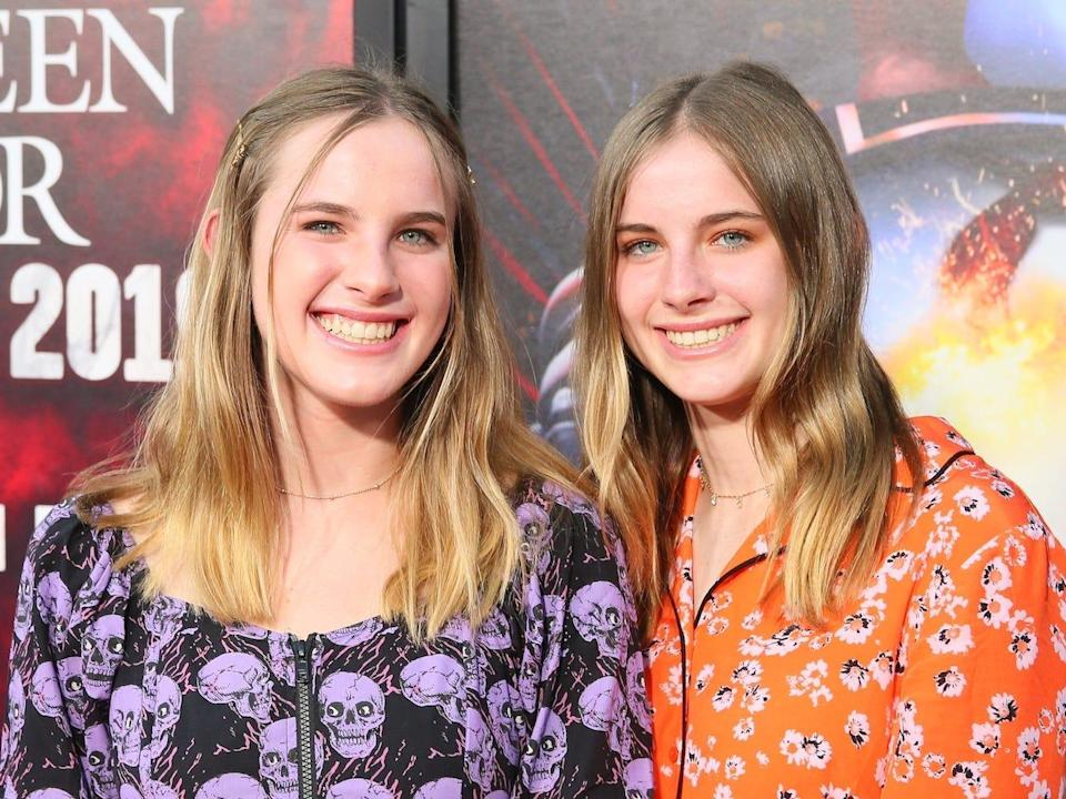 """Cali and Noelle Sheldon at the premiere of horror film, """"Us."""""""
