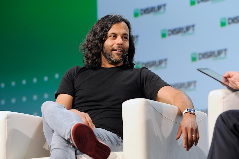 SAN FRANCISCO, CA - SEPTEMBER 06:  Robinhood Co-Founder and Co-CEO Baiju Bhatt speaks onstage during Day 2 of TechCrunch Disrupt SF 2018 at Moscone Center on September 6, 2018 in San Francisco, California.  (Photo by Steve Jennings/Getty Images for TechCrunch)