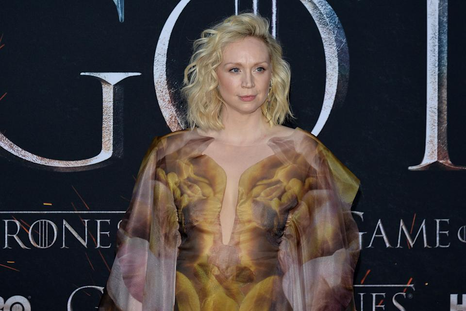 """Gwendoline Christie attend HBO's """"Game of Thrones"""" eight and final season premiere at Radio City Music Hall in New York, NY, April 3, 2019. (Photo by Anthony Behar/Sipa USA)"""