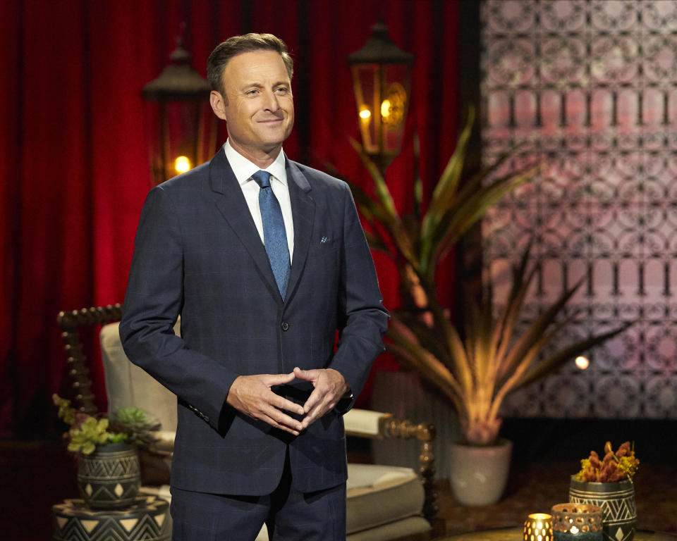 """The Bachelor"" host Chris Harrison is stepping away from the television franchise following a number of controversies. (Photo: Craig Sjodin/ABC via Getty Images)"