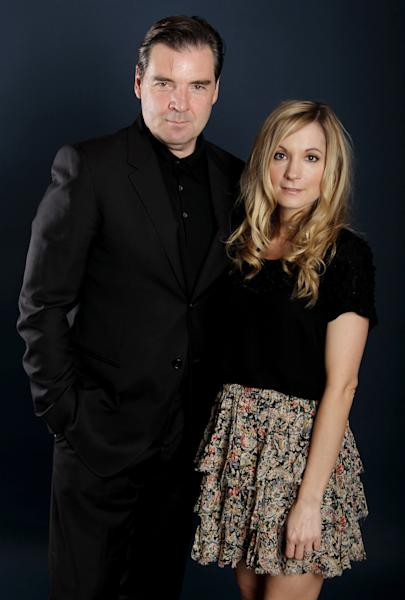 "Actor Brendan Coyle, left, and actress Joanne Froggatt, from ""Downton Abbey"", pose for a portrait during the PBS TCA Press Tour on Saturday, July 21, 2012, in Beverly Hills, Calif. (Photo by Matt Sayles/Invision/AP)"