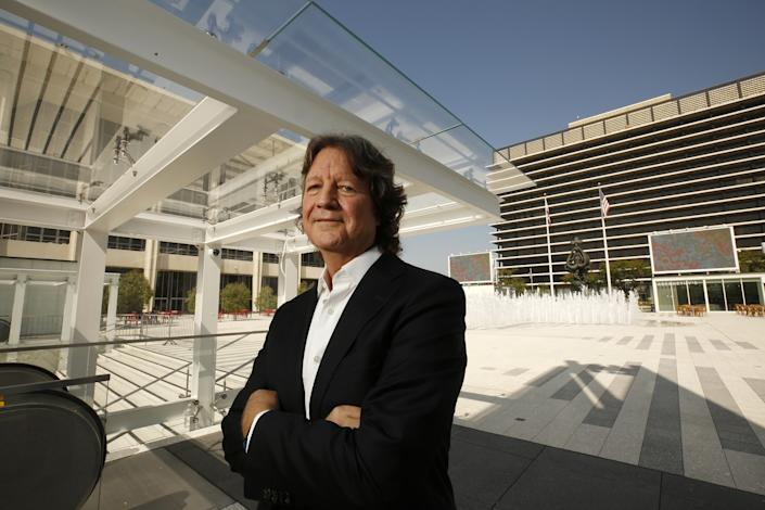 """""""Densities of offices will change,"""" says Bob Hale of RCH Studios, seen here at the Music Center in 2019. <span class=""""copyright"""">(Al Seib / Los Angeles Times)</span>"""