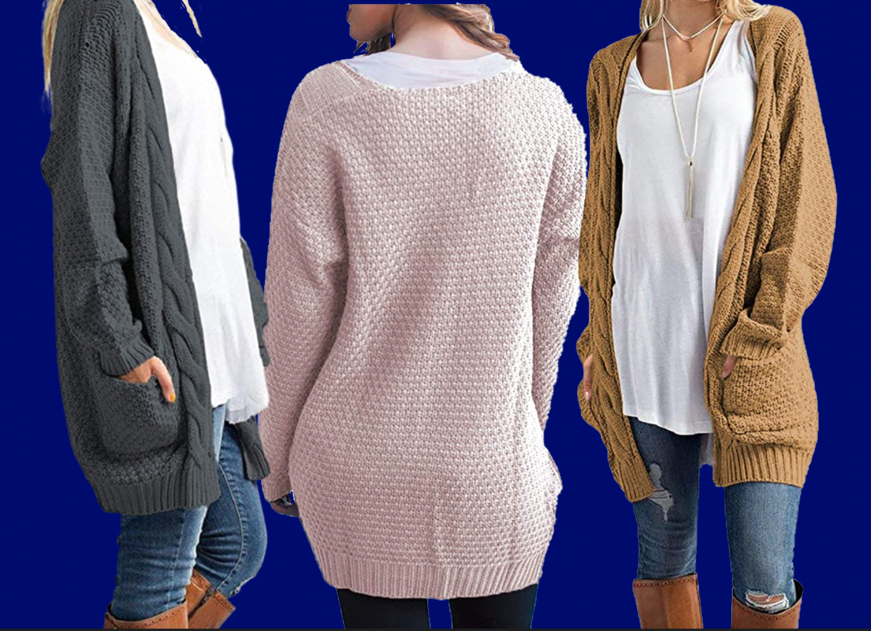 Your everyday cardigan for fall. (Photo: Amazon)