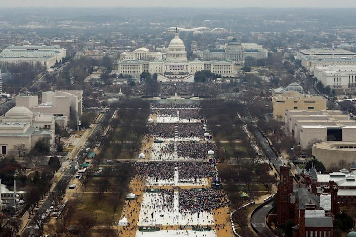 <p>JAN. 20, 2017 – Attendees partake in the inauguration ceremonies to swear in Donald Trump as the 45th president of the United States at the U.S. Capitol in Washington, U.S. (Photo: Lucas Jackson/Reuters) </p>