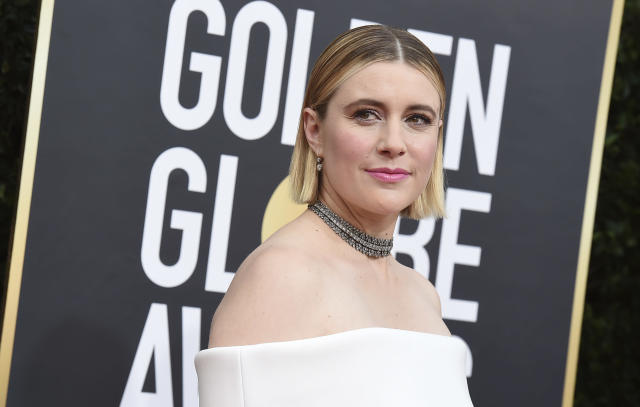 Greta Gerwig arrives at the 77th annual Golden Globe Awards at the Beverly Hilton Hotel on Sunday, Jan. 5, 2020. (Photo by Jordan Strauss/Invision/AP)