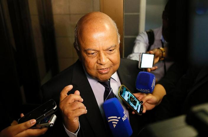 """Sacked finance minister Pravin Gordhan enjoyed rare popularity rare in the post and was seen as the """"Mr Clean"""" of South African politics (AFP Photo/Phil MAGAKOE)"""