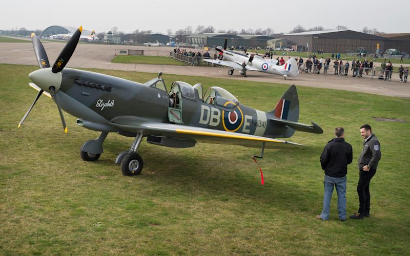 The newly restored Spitfire NH 341 is unveiled at IWM Duxford - David Rose