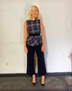 """<p>Holly Willoughby sent fans straight to Zara on September 5 after sharing a snap of her checked pleated <a rel=""""nofollow noopener"""" href=""""https://www.zara.com/uk/en/pleated-checked-top-p08062637.html?v1=7094635&v2=1074565"""" target=""""_blank"""" data-ylk=""""slk:blouse"""" class=""""link rapid-noclick-resp"""">blouse</a>. She teamed the look with a pair of Jigsaw trousers and LK Bennett shoes. Anyone else craving a shopping spree? <em>[Photo: Instagram]</em> </p>"""
