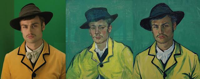 """Douglas Booth as Armand Roulin. """"'Loving Vincent' follows the journey of Armand Roulin, son to Postman Joseph Roulin. In the film Armand's father sends him to deliver a letter to Vincent's brother Theo, after hearing that Vincent shot himself. Armand arrives in Paris only to find that Theo is dead, too. He is drawn into the mystery of Vincent's death, as he finds out more about Vincent's amazing life and seeks out the truth about his death,"""" a description on the website for """"Loving Vincent"""" reads. """"Vincent painted Armand three times, and his portrait of Armand Roulin in a yellow jacket is the one from which we took a lead for 'Loving Vincent.'"""""""