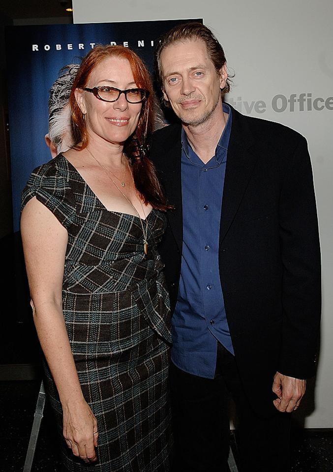 """<a href=""""http://movies.yahoo.com/movie/contributor/1809448517"""">Jo Andres</a> and <a href=""""http://movies.yahoo.com/movie/contributor/1800019554"""">Steve Buscemi</a> at the New York premiere of <a href=""""http://movies.yahoo.com/movie/1809739709/info"""">What Just Happened</a> - 10/01/2008"""