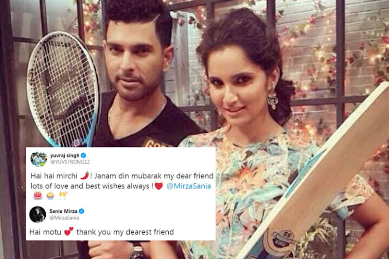 Yuvraj Singh Wishes Sania Mirza On Birthday With Quirky Post, Her Reply Will Leave You in Splits
