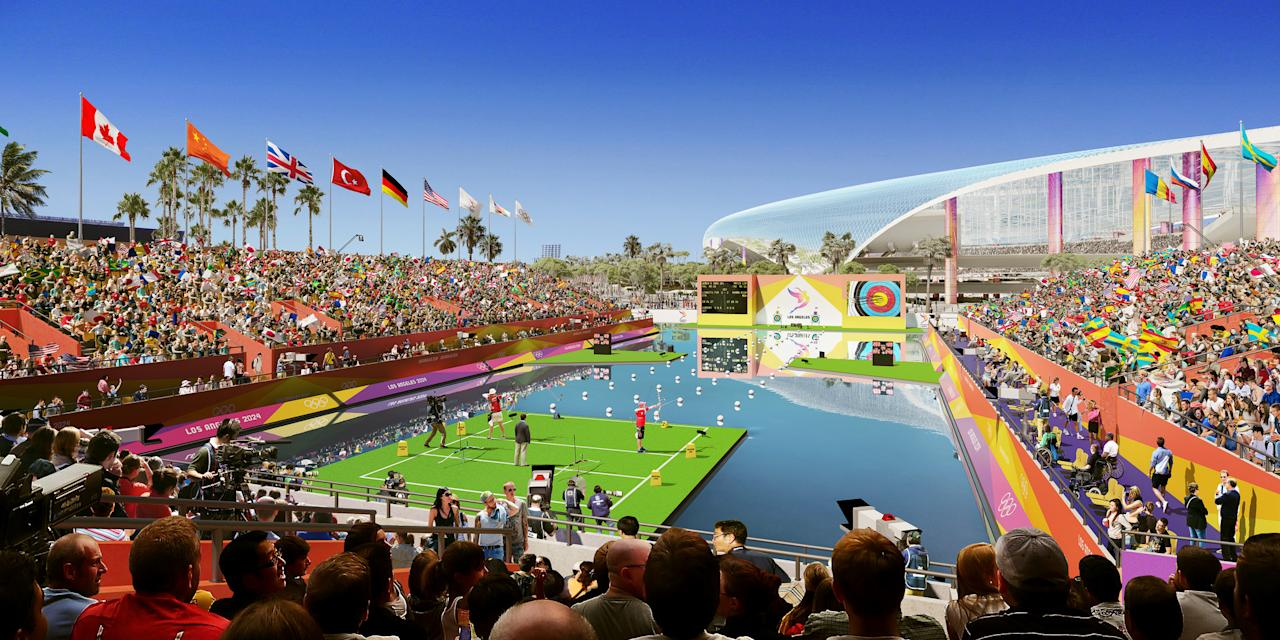 <p>Archery at LA Stadium. (Photo courtesy of LA2028) </p>