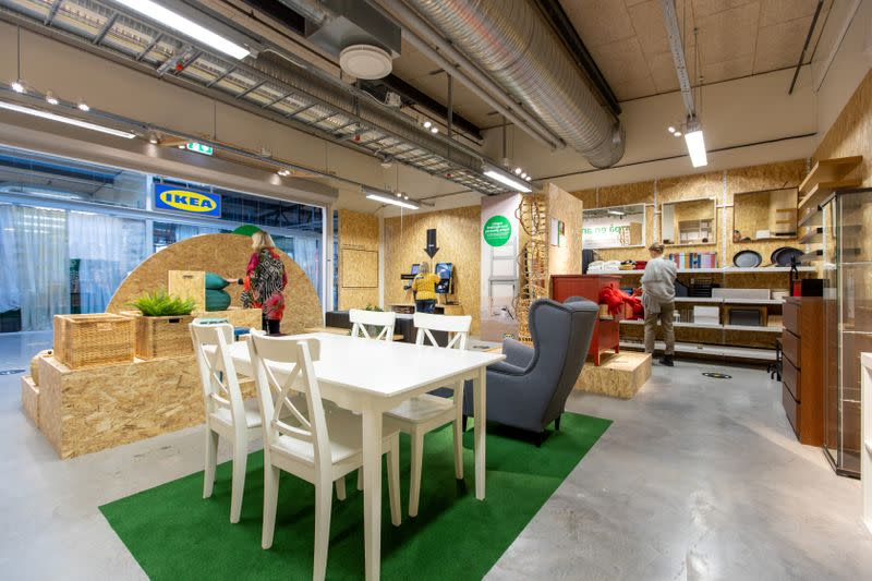 A pilot second-hand IKEA furniture store due to open on November 2 in Eskilstuna, Sweden, is seen in a handout photo