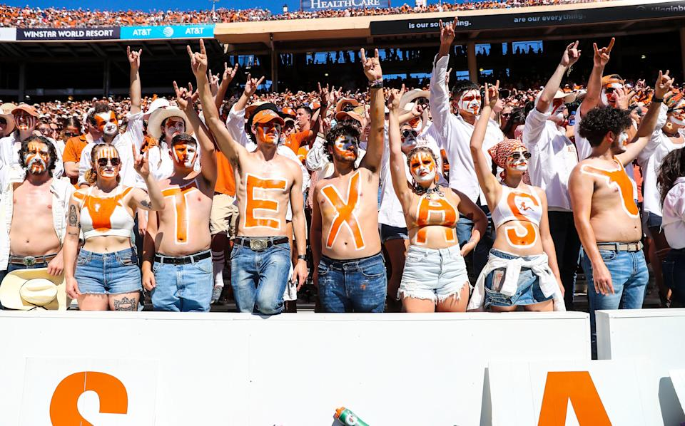 Texas fans have returned to games this season, including this one on Oct. 9 vs. Oklahoma.