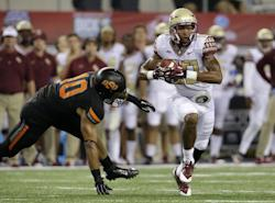 Rashad Greene came up huge FSU, finishing with 11 catches for 203 yards. (AP)