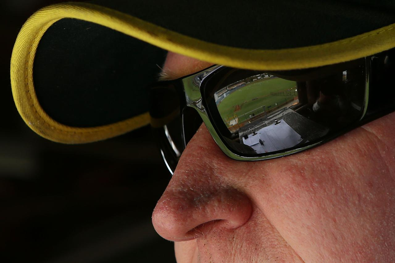 PERTH, AUSTRALIA - FEBRUARY 22:  A scoreboard attendant looks on in the old WACA scoreboard during day two of the Sheffield Shield match between the Western Australia Warriors and the Tasmania Tigers at WACA on February 22, 2013 in Perth, Australia.  (Photo by Paul Kane/Getty Images)