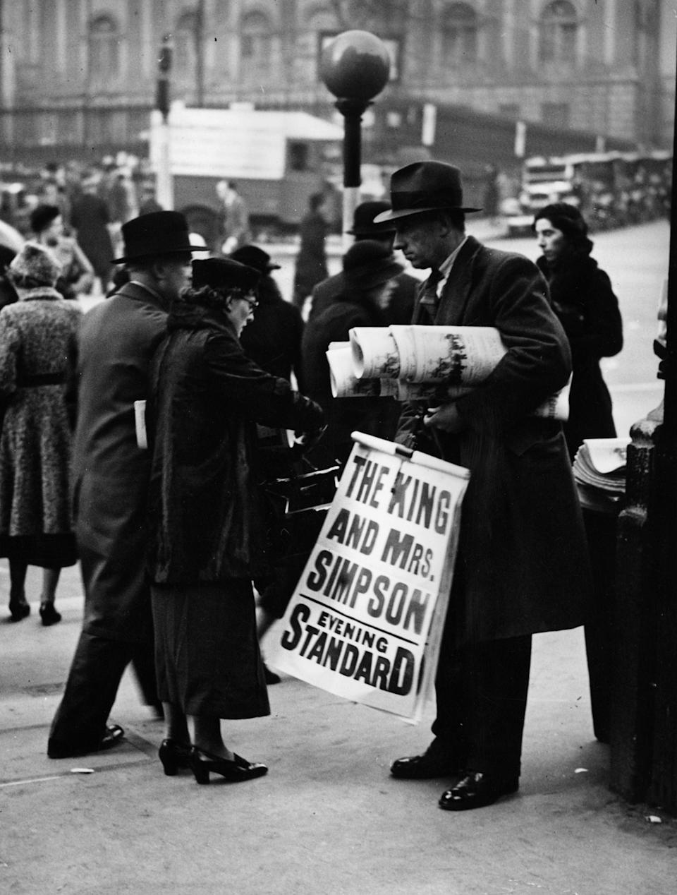 The king's abdication in 1936 caused shockwaves around the worldGetty Images