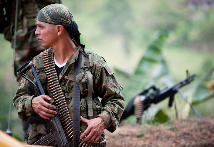 The FARC guerrilla group which rose up in 1964 has an estimated 8,000 fighters (AFP Photo/Luis Robayo)