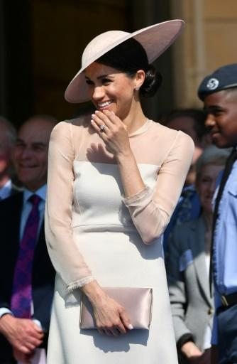 Britain's Meghan, Duchess of Sussex, attends the Prince of Wales's 70th birthday party at Buckingham Palace