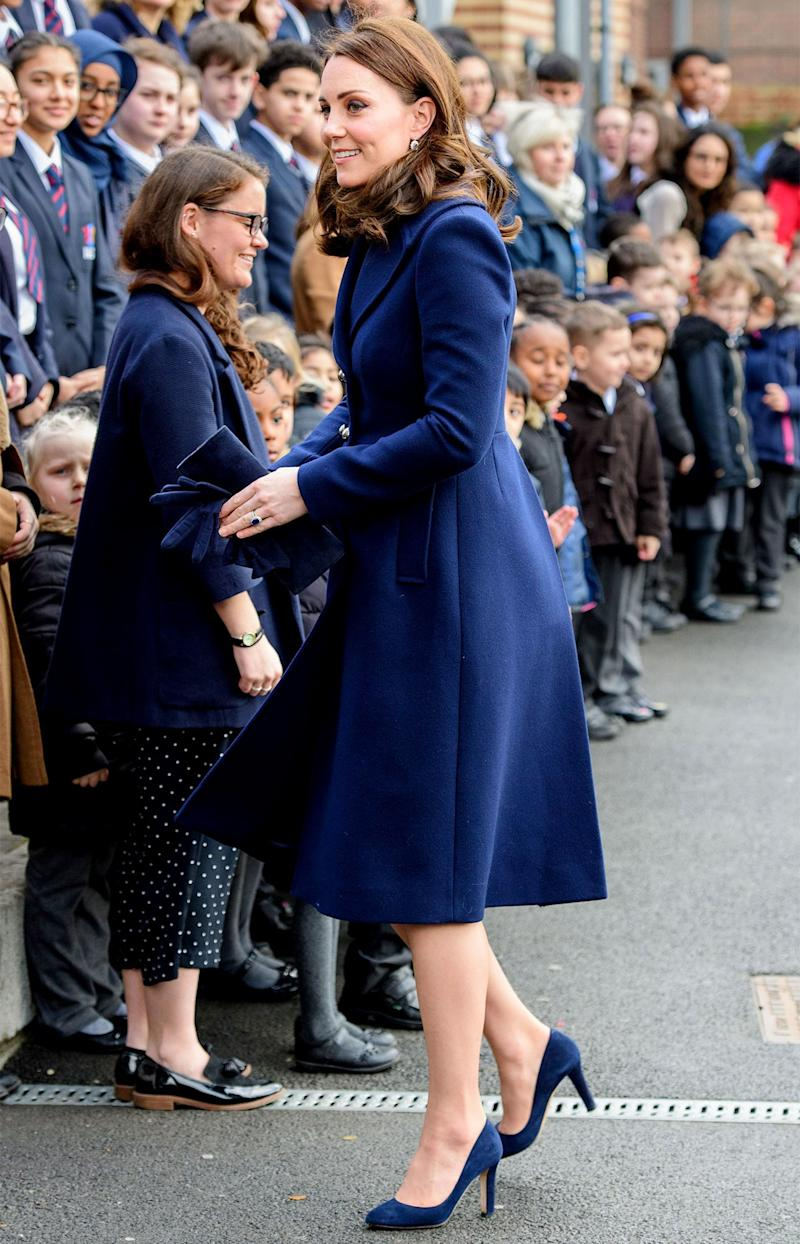 January 10: We're now in 2018: a new year, but the same Kate, and the same unwavering preference for blue.